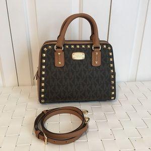 NWT Michael kors sandrine stud small satchel bag